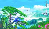 jiangnan湖の美しい景色ヤナギのプラム花はすの花モデルNo.のオリオールズの鳥そして完全: WL018