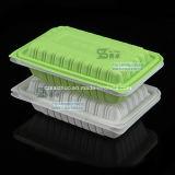 550ml 녹색 백색 경첩을 단 단 하나 격실 처분할 수 있는 Plasitc 음식 상자