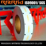 Etiqueta a prueba de calor del papel brillante RFID de la etiqueta de la muestra libre RFID de la frecuencia ultraelevada
