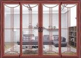 I doppi portelli di alluminio di Windows aderiscono portello scorrevole di alluminio