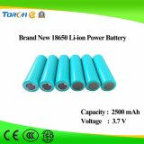 Pacote de bateria recarregável de íon de lítio de 2500mAh 3.7V 18650