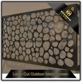 Prix en aluminium de panneau de frontière de sécurité de Lowes de coupure horizontale de laser de vente directe