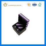 Rectángulo de empaquetado modificado para requisitos particulares del regalo de la pajarita de los hombres (con la ventana del PVC)
