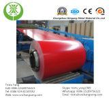 Hoja de aluminio revestida del color rojo, alto brillante