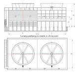 Controcorrente industriale che raffredda Tower-Yhg-1000~5000 (imballaggio dello strato della pellicola)