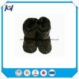 Ботинки зимы роскошных повелительниц леопарда плюша теплых крытые