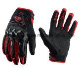 Красное волокно углерода качества резвится перчатки для всадника мотоцикла (MAG13)