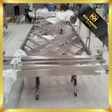 Goldene LuxuxaußenmetallEdelstahl-Schwingen-Sicherheits-Glaseintrag-Türrahmen