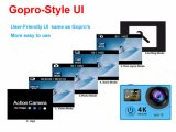 """кулачок экрана 30m водоустойчивый WiFi видеокамеры 170d спорта ультра 1080P HD WiFi действия 4k камеры широкоформатный 2 """" двойных"""