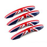 真新しい小型たる製造人のABS小型たる製造人F54だけのための物質的な紫外線保護されたドアハンドルカバー英国国旗様式(6 PCS/Set)