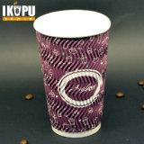 Uso della tazza dell'ondulazione per la tazza di carta dell'ondulazione verticale a gettare calda della tazza 12oz di Dispossable della bevanda