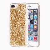Luxuxschützendes Shell-Stoßfolien-Kasten des Bling Funkeln-Schein-TPU für iPhone 7