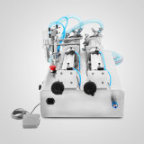 Pneumatische Vloeibare het Vullen van twee Pijpen Machine 100-1000ml