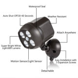 4 LEDs PIR 적외선 운동 측정기 태양 정원 램프 옥외 점화 방수 태양 스포트라이트 통로 빛