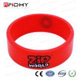 Yo Código Sli RFID Wristband del silicio