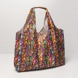 PVC imperméable à l'eau de grande taille de nylon de 23 types pliant les sacs à provisions portatifs (A045)