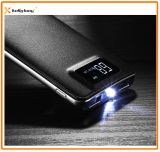 Dois Saídas, LED Light, LCD Display Polymer Slim Power Bank 10000mAh