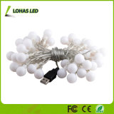 Wasserdichtes im Freien warmes weißes feenhaftes sternenklares Zeichenkette-Licht USB-LED für Weihnachtsdekoration