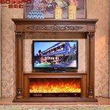 Mantel en bois de cheminée découpé par main d'intérieur d'utilisation (GSP14-006)
