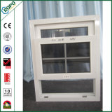 UPVC doppeltes glasig-glänzendes Gitter innerhalb des einzelnen gehangenen Fensters As2047