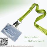 Изготовленный на заказ дешевый талреп Polyster с Retractable вьюрком держателя значка для карточек удостоверения личности