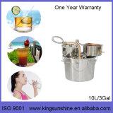 Equipamento de cobre vermelho da destilação do braço de Kingsunshine 18L/5gal Lyne, álcôol do agregado familiar/destilador da água