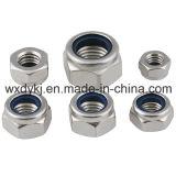 Écrous six-pans en nylon d'écrou de blocage avec le fournisseur non métallique de garniture intérieure d'OIN 7041 de dispositif de fixation d'acier inoxydable de la Chine