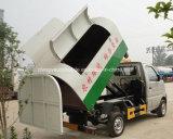 El brazo de Foton de 3 ruedas de T Samll 6 cae el carro de basura carro del brazo de gancho de leva de 3 metros cúbicos
