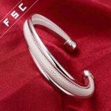 Оптовое широкое медистое серебро моды покрыло браслет отрезока для девушки