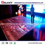 Visualización interactiva/pantalla de P6.25/P8.928 LED Dance Floor para el alquiler, acontecimiento (cabina de 500mm*1000m m)