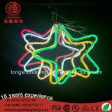 Muestra de neón ligera decorativa colgante de acrílico de la estrella IP65 del LED para la decoración de la Navidad