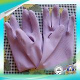 Guante de látex antiácido impermeable para trabajos de lavado