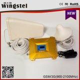 Amplificatore mobile a due bande del segnale di 900/2100MHz 2g 3G 4G con l'antenna