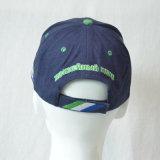 Gorra de béisbol del algodón de los paneles de la aduana 6 que compite con los casquillos que funcionan con el sombrero