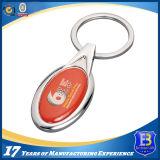 Trousseau de clés en alliage de zinc fait sur commande avec l'étiquette époxy (Ele-K030)