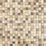 Goldkristallglas-Mischungs-Marmor-Mosaik-Fliese