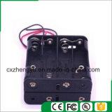 support de la batterie 8AAA avec fils de fil rouges/noirs