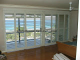 89mm Basswood Solid Wood Plantations Shutters Windows (Sgd-S-7206)