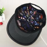 سوداء لوح شبكة غطاء مع معدن علامة تجاريّة & تطريز