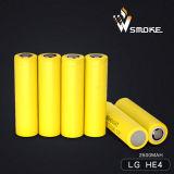 He4 batteria autentica del MOD dello Li-ione 18650 della batteria 2500mAh 35A