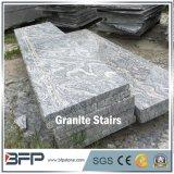 Impronta bianca del granito di G441 Juparana con la vena verde per le mattonelle della scala e del pavimento