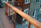 Деревянный Railing кабеля столба и поручня