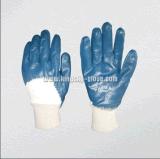 Перчатки запястья руки хлопка нитрила Coated открытые назад (5004)