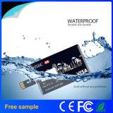 Movimentação do flash do USB do cartão de crédito da impressão feita sob encomenda do logotipo mini