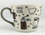 Caliente-Venta esmaltado pintado a mano taza de café con el logotipo personalizado