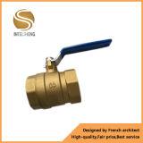 Vávula de bola de cobre amarillo industrial 2 pulgadas