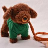 Juguete mimoso de la felpa del perro de perrito del animal relleno de la ropa del juguete suave derecho del peluche