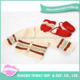 Chandail de tricotage à la main personnalisé durable de gosse de laines de l'hiver