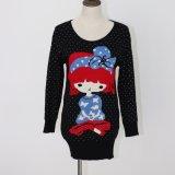 Платье свитера Ladeis в конструкции жаккарда и Viscose Nylon качестве мягком Handfeel полиэфира