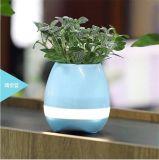POT di fiore astuto del nuovo di arrivo dell'ABS Flowerpot astuto LED di musica con l'altoparlante di Bluetooth e la lampada del LED